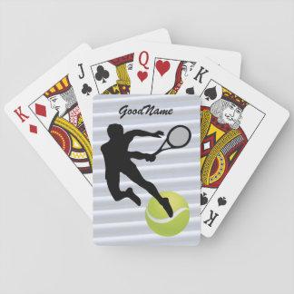 Tennis, personifizieren mit Namen Spielkarten