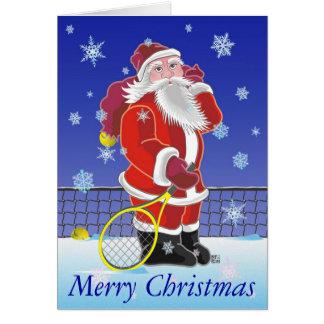 Tennis Sankt frohe Feiertage Grußkarte