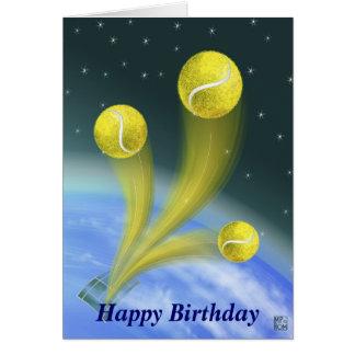 Tennis-Sieg-alles Gute zum Geburtstag Grußkarte