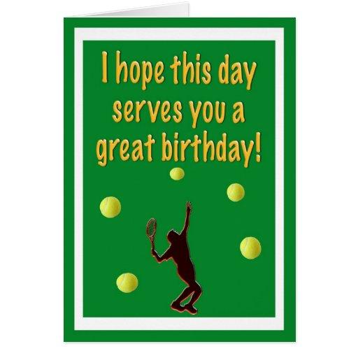 Tennis-Spieler-alles- Gute zum Geburtstagkarte