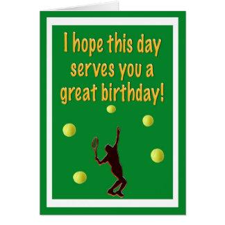Tennis-Spieler-alles- Gute zum Geburtstagkarte Karte