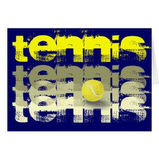 Tennis-Spieler-Geburtstag Grußkarte