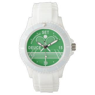 Tennis-Spieler, Tennis-Uhr Armbanduhr