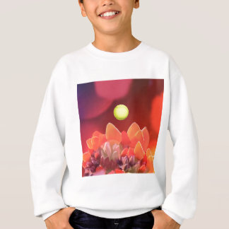 Tennisball in der wilden Blume Sweatshirt