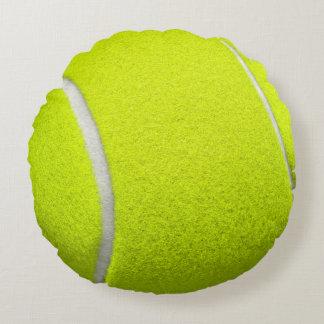 Tennisball-lustiger Blick Rundes Kissen