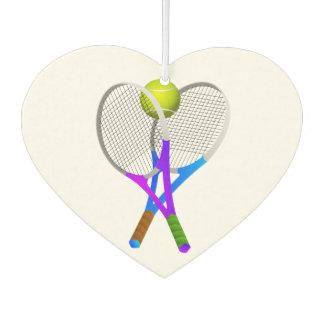 Tennisball und Schläger Lufterfrischer