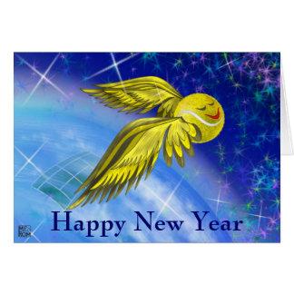Tennissatellit guten Rutsch ins Neue Jahr Grußkarte