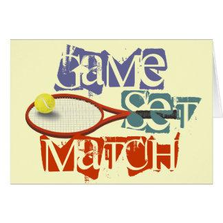 Tennisspieler alles Gute zum Geburtstag Grußkarte