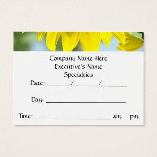Termin-Erinnerung kardiert Sonnenblumen Jumbo-Visitenkarten