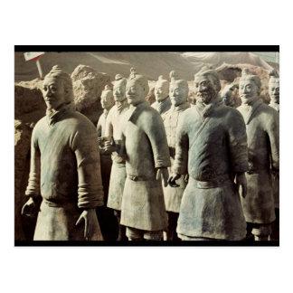 Terrakotta-Armee, Qin-Dynastie, 210 BC; Krieger Postkarte