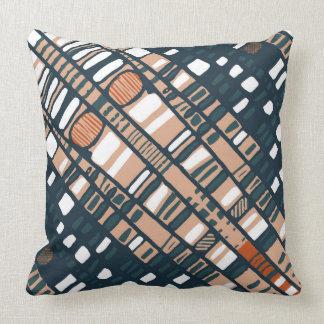 Terrakotta-Diagonalschichten Kissen