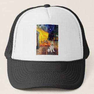 Terrasse-Café - Draht Foxterrier #1 Truckerkappe