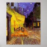 Terrasse de café de Vincent van Gogh à la peinture Poster