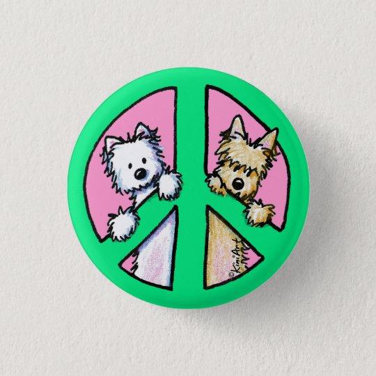 Terrier für Frieden Runder Button 2,5 Cm