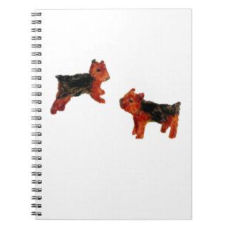 Terrier-Spaß-Hundekunst Spiral Notizblock