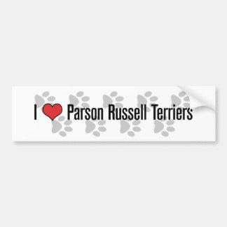 Terriers de Russell du pasteur I (de coeur) Autocollant De Voiture