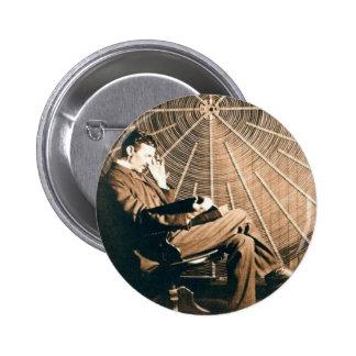 Tesla Denken Runder Button 5,7 Cm