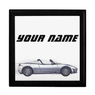 """Tesla Roadster-"" hölzernes Schmuckkästchen Schmuckschachtel"