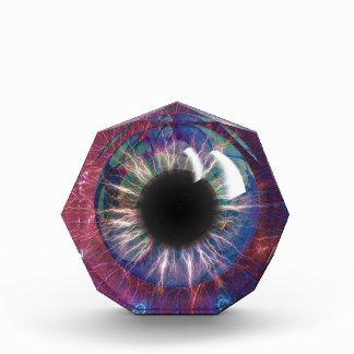 Teslas Augen-Fraktal Design Acryl Auszeichnung