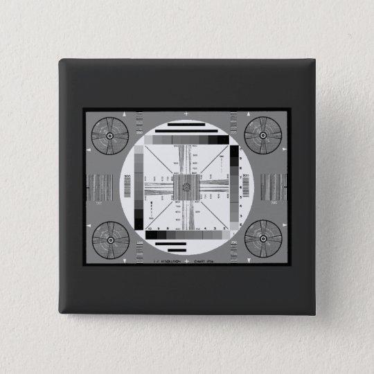 Test-Muster (Luftwaffe) Quadratischer Button 5,1 Cm