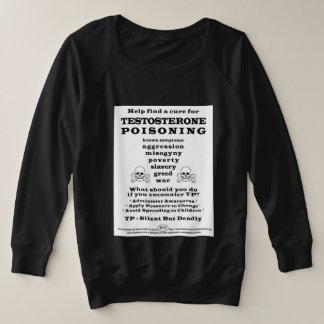 Testosteron, das PSA vergiftet Große Größe Sweatshirt