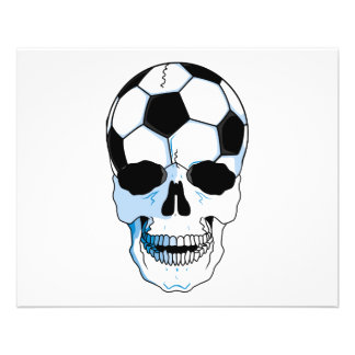 tête de crâne de ballon de football prospectus 11,4 cm x 14,2 cm