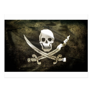 Tête de Mort Pirat Postkarte