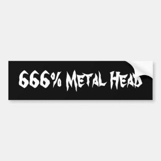 Tête en métal de 666 autocollants pour voiture