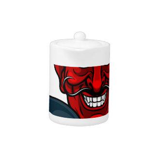 Teufel-Bowlings-Sport-Maskottchen