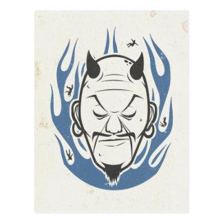 Teufel-Kopf Postkarten
