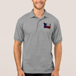 Texas-Bürsten-Flagge Polo Shirt