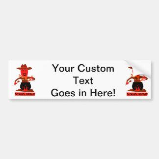 Texas-Chili-Cartoon-Mannkochen Autoaufkleber