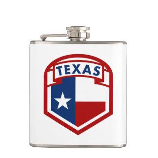Texas-Flagge Flachmann