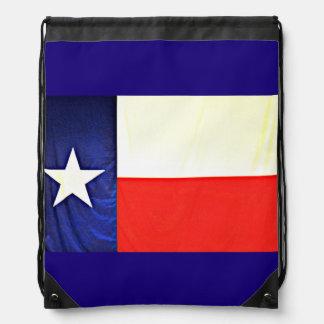 Texas-Flaggedrawstring-Rucksack Turnbeutel