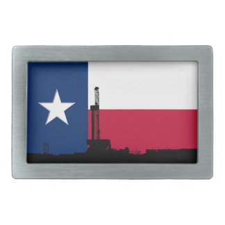 Texas-Flaggen-Erdölbohrungs-Anlage Rechteckige Gürtelschnalle