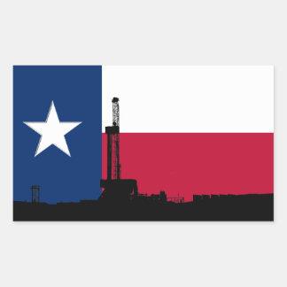 Texas-Flaggen-Erdölbohrungs-Anlage Rechteckiger Aufkleber