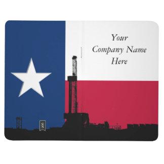 Texas-Flaggen-Erdölbohrungs-Anlage Taschennotizbuch