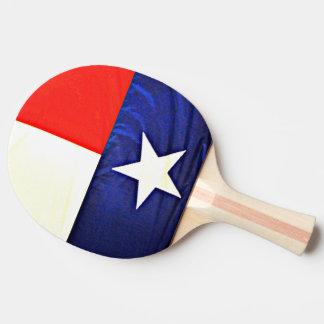Texas-Flaggen-Klingeln Pong Paddel Tischtennis Schläger