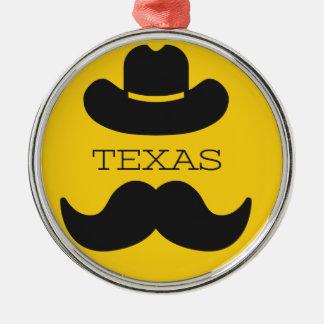 Texas im Gelb Silbernes Ornament