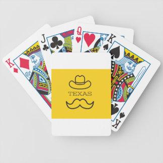 Texas in Gelb 2 Bicycle Spielkarten