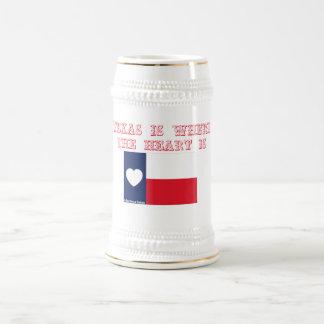 Texas ist, wo das Herz ist Bierglas