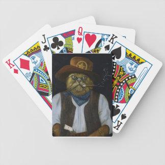Texas-Katze mit einer Haltung Bicycle Spielkarten