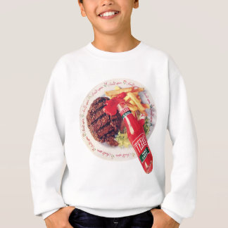 Texas-Ketschup-Burger und Fischrogen Sweatshirt