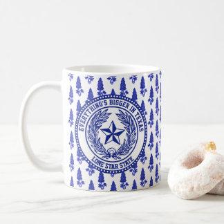 Texas-Logobluebonnet-Muster Ihr Text Tasse