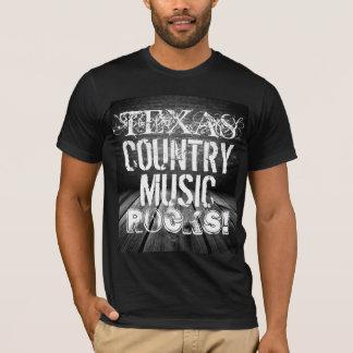 Texas-Musik schaukelt grundlegenden schwarzen T - T-Shirt