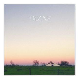 Texas-Scheune am Sonnenuntergang Karte
