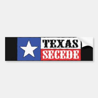 Texas Secede Autosticker