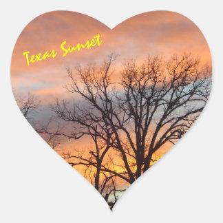 Texas-Sonnenuntergang Herz-Aufkleber