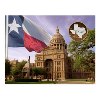 Texas-Staats-Hauptstadts-Gebäude, Austin, TX Postkarte