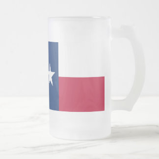 Texas-Staatsflagge - hochwertige authentische Mattglas Bierglas